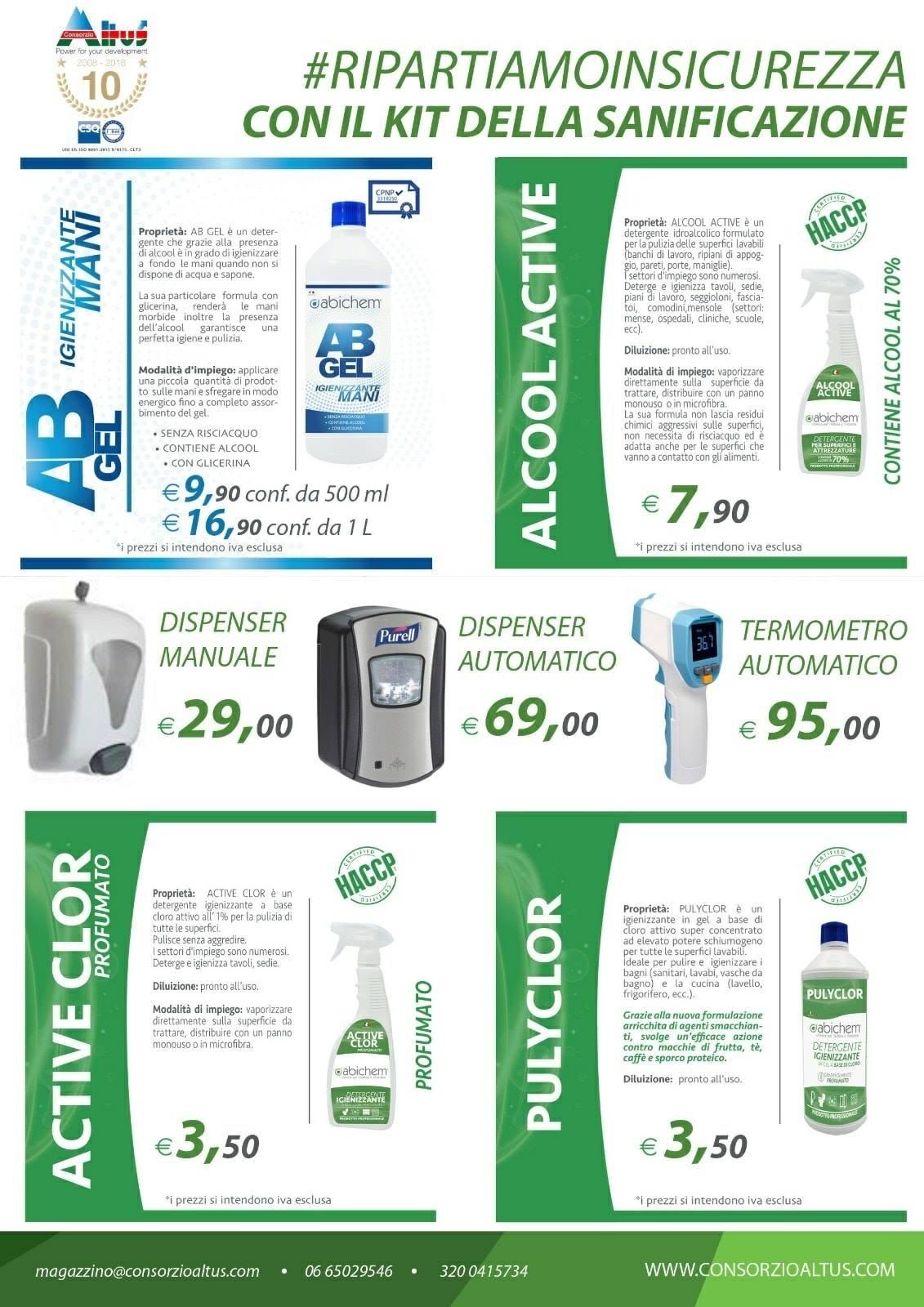 kit sanificazione covid-consorzio altus